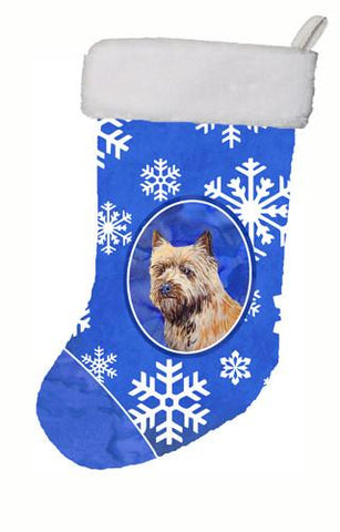 Buy this Cairn Terrier Winter Snowflakes Snowflakes Holiday Christmas  Stocking