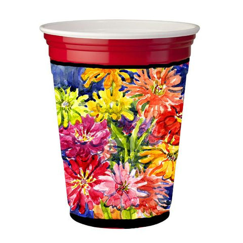 Buy this Flower - Gerber Daisies Red Solo Cup Beverage Insulator Hugger