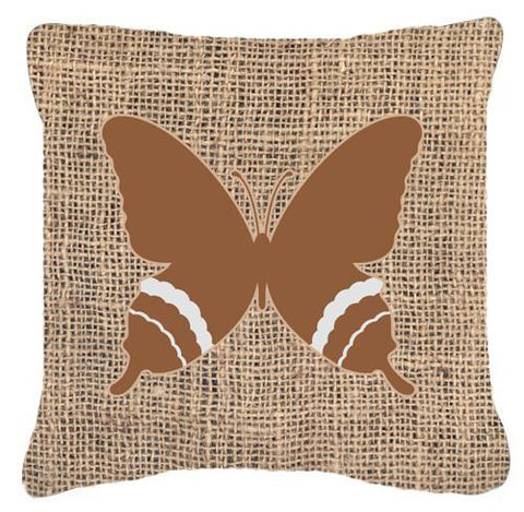 Buy this Butterfly Burlap and Brown   Canvas Fabric Decorative Pillow BB1034