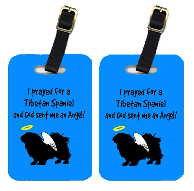 Pair of 2 Tibetan Spaniel Luggage Tags by Caroline's Treasures