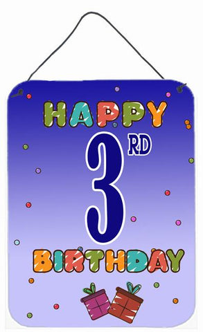 Buy this Happy 3rd Birthday Wall or Door Hanging Prints CJ1094DS1216
