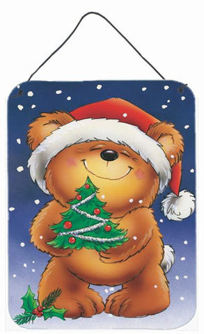 Buy this Teddy Bear and Christmas Tree Wall or Door Hanging Prints AAH7208DS1216
