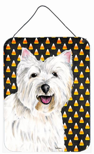 Westie Candy Corn Halloween Portrait Wall or Door Hanging Prints by Caroline's Treasures