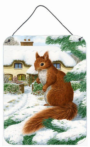 Buy this Red Squirrel & Cottage Wall or Door Hanging Prints ASA2014DS1216