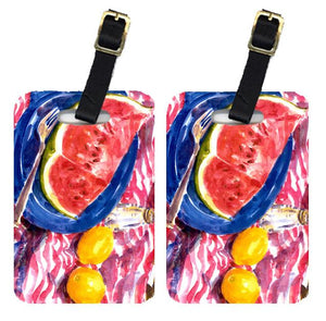 Buy this Pair of 2 Watermelon Luggage Tags