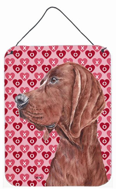 Redbone Coonhound Hearts and Love Wall or Door Hanging Prints SC9707DS1216 by Caroline's Treasures
