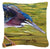 Buy this Green Heron Canvas Fabric Decorative Pillow JMK1226PW1414