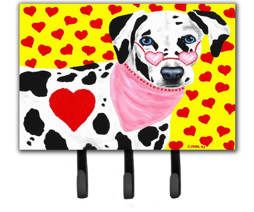 Hearts and Dalmatian Leash or Key Holder AMB1116TH68 by Caroline's Treasures