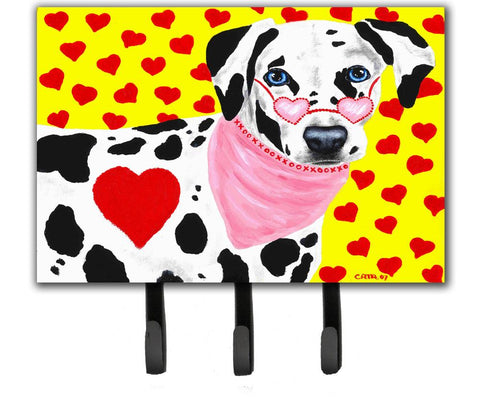 Buy this Hearts and Dalmatian Leash or Key Holder AMB1116TH68