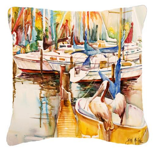 Pelicans and Sailboats Canvas Fabric Decorative Pillow JMK1238PW1414 by Caroline's Treasures