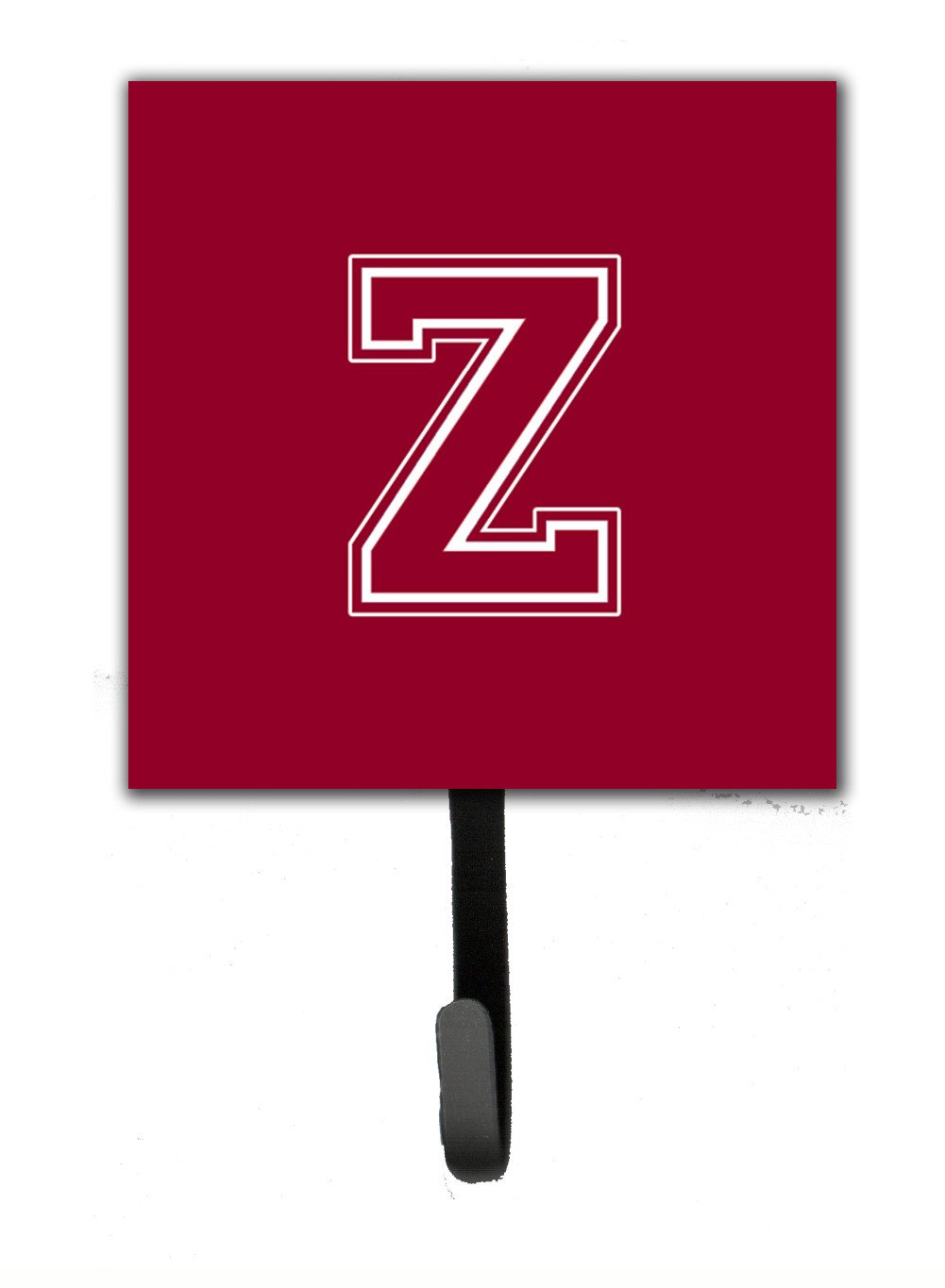Buy this Letter Z Initial Monogram - Maroon and White Leash Holder or Key Hook