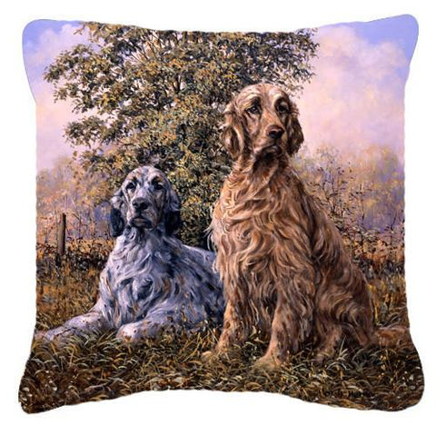 Buy this Setters by Michael Herring Canvas Decorative Pillow HMHE0203PW1414