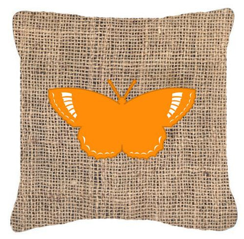 Buy this Butterfly Burlap and Orange   Canvas Fabric Decorative Pillow BB1029