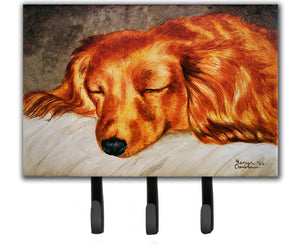 Buy this Red Longhaired Dachshund Leash or Key Holder AMB1202TH68