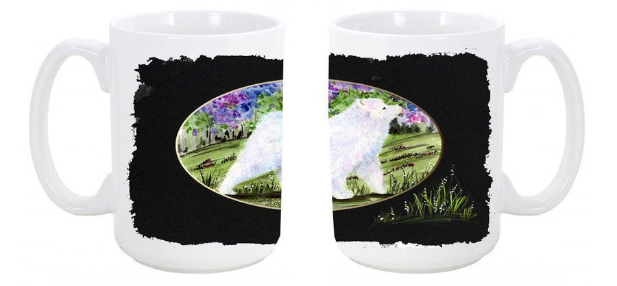 Buy this Samoyed Dishwasher Safe Microwavable Ceramic Coffee Mug 15 ounce SS8059CM15