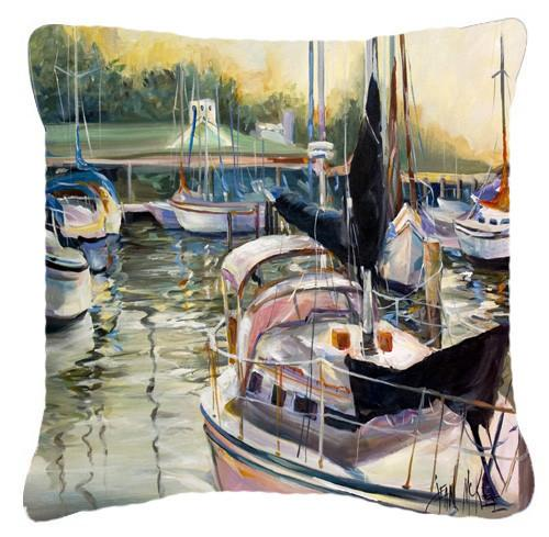 Black Sails Sailboats Canvas Fabric Decorative Pillow JMK1246PW1414 by Caroline's Treasures
