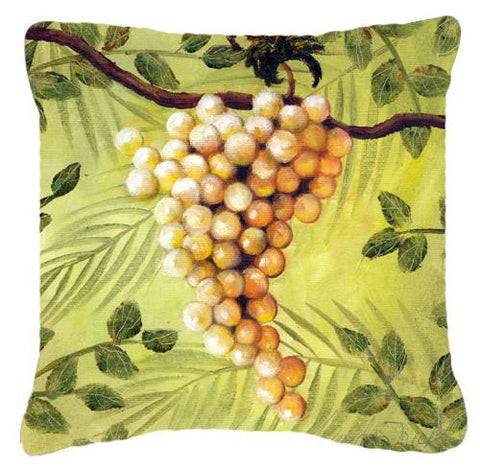 Buy this Sunshine White Grapes by Malenda Trick Canvas Decorative Pillow TMTR0154PW1414