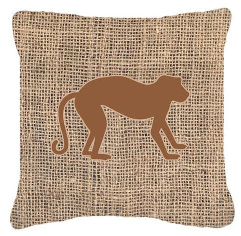Buy this Monkey Burlap and Brown   Canvas Fabric Decorative Pillow BB1128