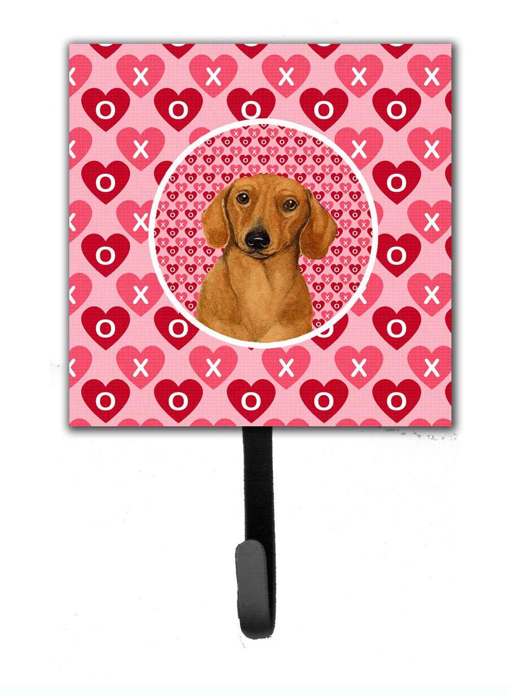 Dachshund Valentine's Love and Hearts Leash or Key Holder by Caroline's Treasures