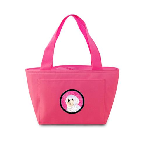 Pink Maltese  Lunch Bag or Doggie Bag SS4757-PK by Caroline's Treasures