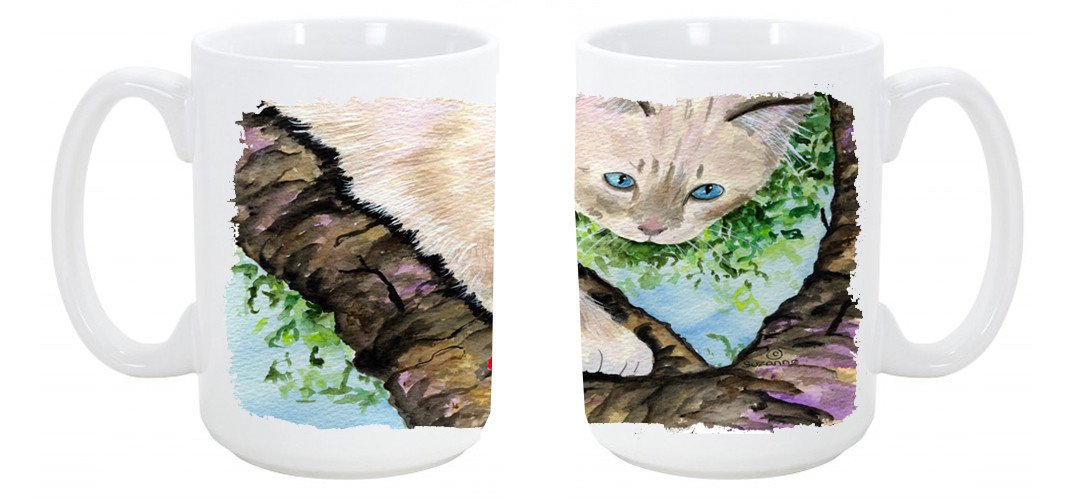 Buy this Cat - Birman Dishwasher Safe Microwavable Ceramic Coffee Mug 15 ounce SS8276CM15