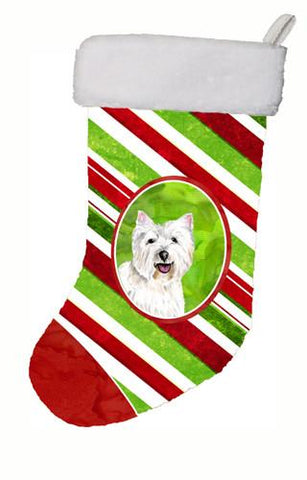 Buy this Westie Candy Cane Holiday Christmas  Christmas Stocking SC9330