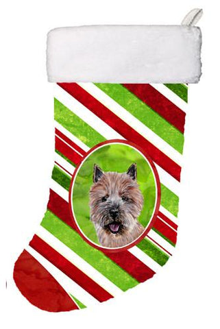 Buy this Norwich Terrier Candy Cane Christmas Christmas Stocking SC9806-CS