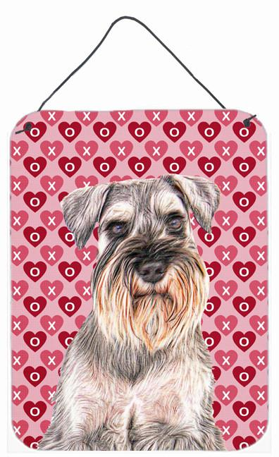 Hearts Love and Valentine's Day Schnauzer Wall or Door Hanging Prints KJ1193DS1216 by Caroline's Treasures