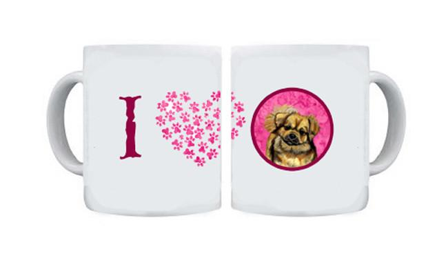 Tibetan Spaniel  Dishwasher Safe Microwavable Ceramic Coffee Mug 15 ounce by Caroline's Treasures