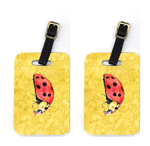 Buy this Pair of Lady Bug on Yellow Luggage Tags