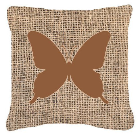 Buy this Butterfly Burlap and Brown   Canvas Fabric Decorative Pillow BB1046