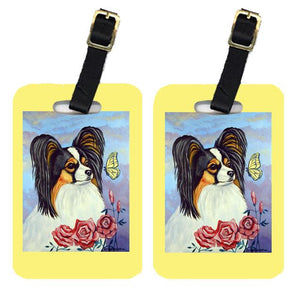 Buy this Pair of 2 Papillon with Butterfly Luggage Tags