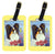 Pair of 2 Papillon with Butterfly Luggage Tags by Caroline's Treasures