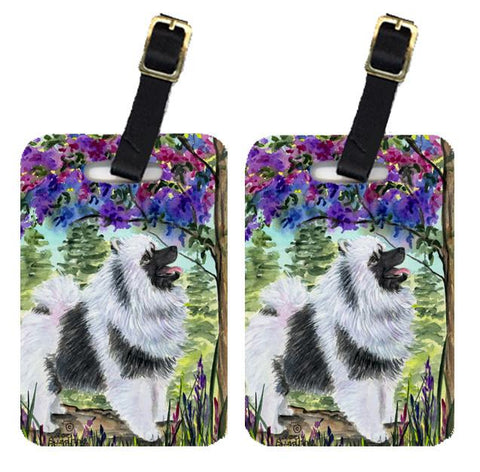 Buy this Pair of 2 Keeshond Luggage Tags