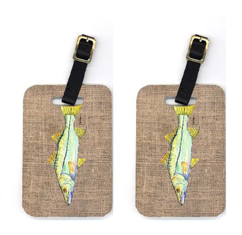 Buy this Pair of Fish - Snook Luggage Tags