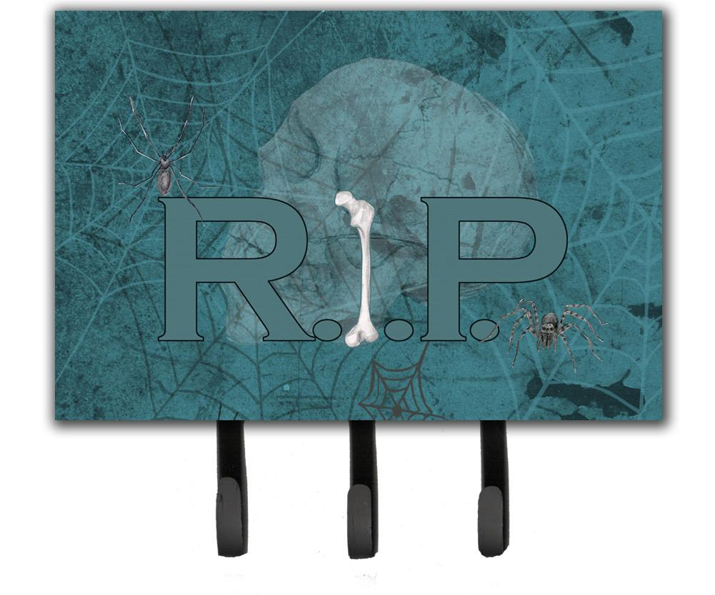 Buy this RIP Rest in Peace with spider web Halloween Leash or Key Holder