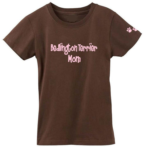 Buy this Bedlington Terrier Mom Tshirt Ladies Cut Short Sleeve Adult Medium