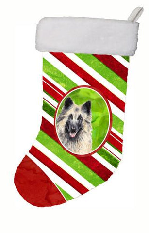 Buy this Belgian Tervuren Candy Cane Holiday Christmas  Christmas Stocking SC9352