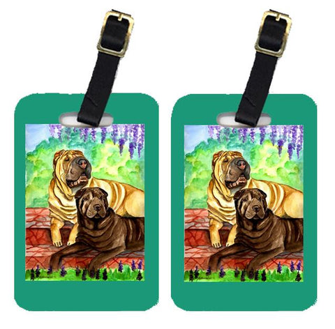 Buy this Pair of 2 Shar Pei Patio Peis Luggage Tags