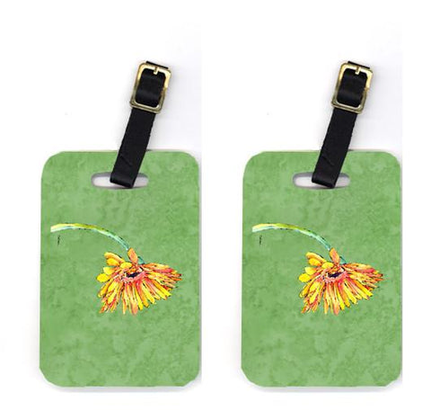 Buy this Pair of Gerber Daisy Orange Luggage Tags