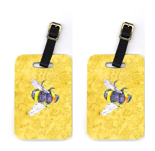 Buy this Pair of Bee on Yellow Luggage Tags