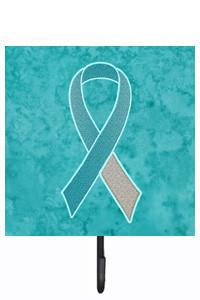 Buy this Teal and White Ribbon for Cervical Cancer Awareness Leash or Key Holder AN1215SH4
