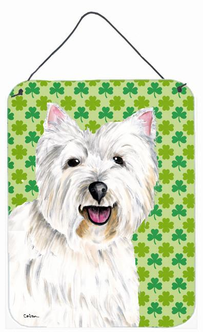 Westie St. Patrick's Day Shamrock Portrait Wall or Door Hanging Prints by Caroline's Treasures