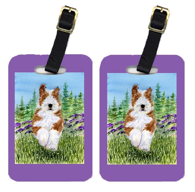 Pair of 2 Bearded Collie Luggage Tags by Caroline's Treasures