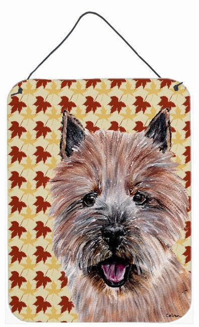 Norwich Terrier Fall Leaves Wall or Door Hanging Prints SC9686DS1216 by Caroline's Treasures