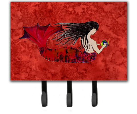 Buy this Black Haired Mermaid on Red Leash or Key Holder 8726TH68