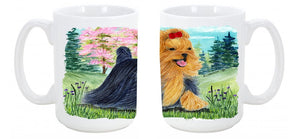 Buy this Yorkie Dishwasher Safe Microwavable Ceramic Coffee Mug 15 ounce SS8188CM15