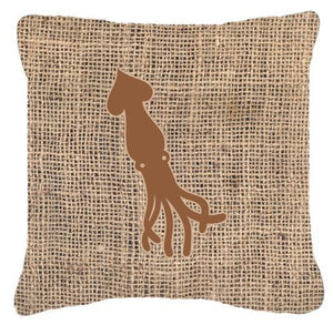 Buy this Squid Burlap and Brown   Canvas Fabric Decorative Pillow BB1096