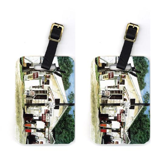 Pair of Garcia's Grocery Luggage Tags by Caroline's Treasures