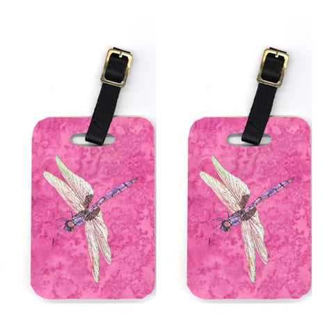 Buy this Pair of Dragonfly on Pink Luggage Tags